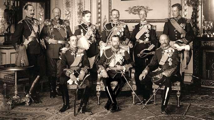 9 monarchów Europy podczas pogrzebu Edwarda VII