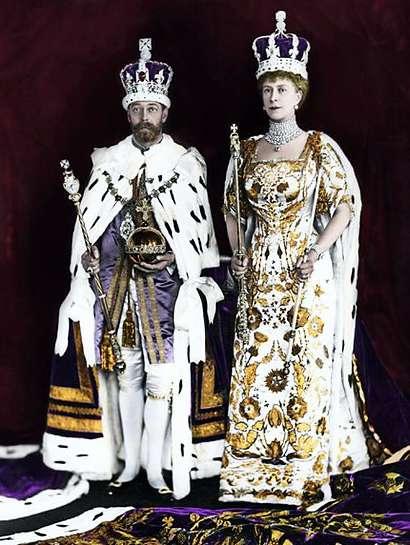 Królewska para w dniu koronacji