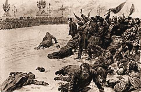 Krwawa niedziela - Petersburg 1905.