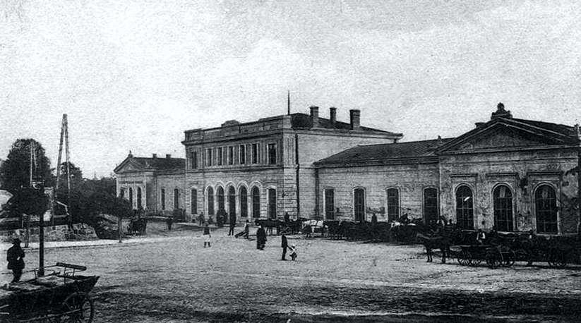 Dworzec kolejowy w Jarosławiu przed I wojną światową