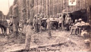 Szpital polowy w tarnogórskich lasach