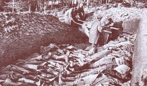 Zbiorowa mogiła poległych żołnierzy