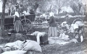 Miejscowa ludność była zmuszana do opuszczania gospodarstw