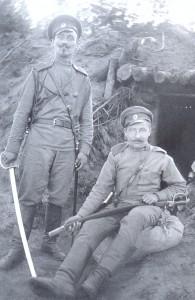 Oficerowie rosyjscy w okopach